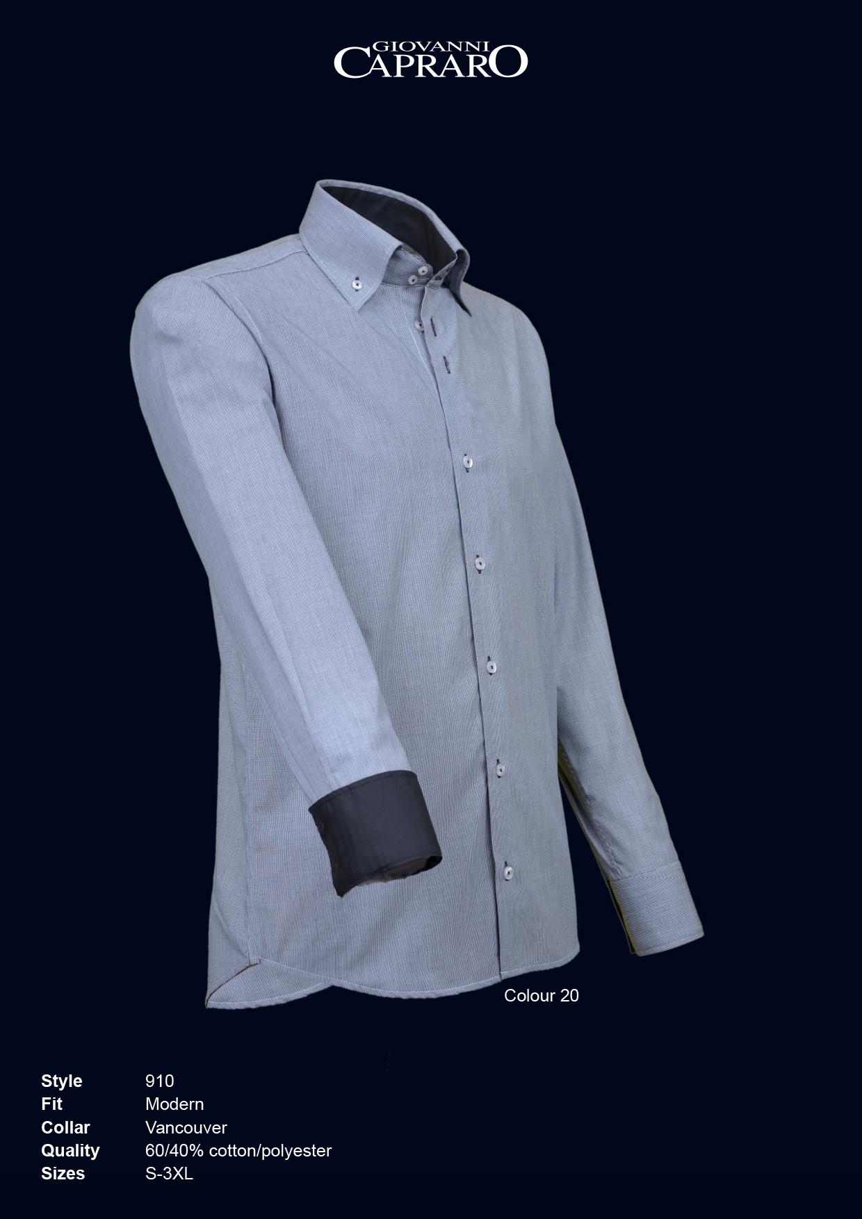 20 Grijs Capraro 910 nl Giovanni Overhemd Allroundkleding oxCeErBQdW